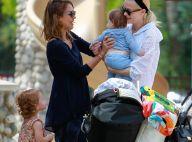 Jessica Alba : Au soleil avec son mari, leurs filles et son filleul, James