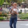 Cash Warren et sa fille Haven à Beverly Hills, le 29 mars 2014.