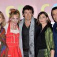 """Katherine Pancol, Julie Depardieu, Patrick Bruel, Emmanuelle Béart et Ariel Wizman à l'avant-première du film """"Les Yeux Jaunes Des Crocodiles"""" au cinéma Gaumont Marignan à Paris, le 31 mars 2014."""