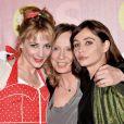"""Julie Depardieu, Cécile Telerman (réalisatrice) et Emmanuelle Béart à l'avant-première du film """"Les Yeux Jaunes Des Crocodiles"""" au cinéma Gaumont Marignan à Paris, le 31 mars 2014."""