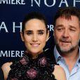 Jennifer Connelly et Russell Crowe lors de l'avant-première du film Noé à Londres, le 31 mars 2014.