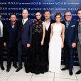Logan Lerman, Scott Franklin, Darren Aronofsky, Jennifer Connelly, Russell Crowe, Emma Watson, Ray Winstone et Douglas Booth lors de l'avant-première du film Noé à Londres, le 31 mars 2014.