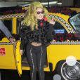 Lady Gaga arrive au Roseland Ballroom pour son dernier concert à New York, le 7 avril 2014.