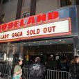 Lady Gaga a donné une série de concerts au Roseland Ballroom à New York, le 7 avril 2014.