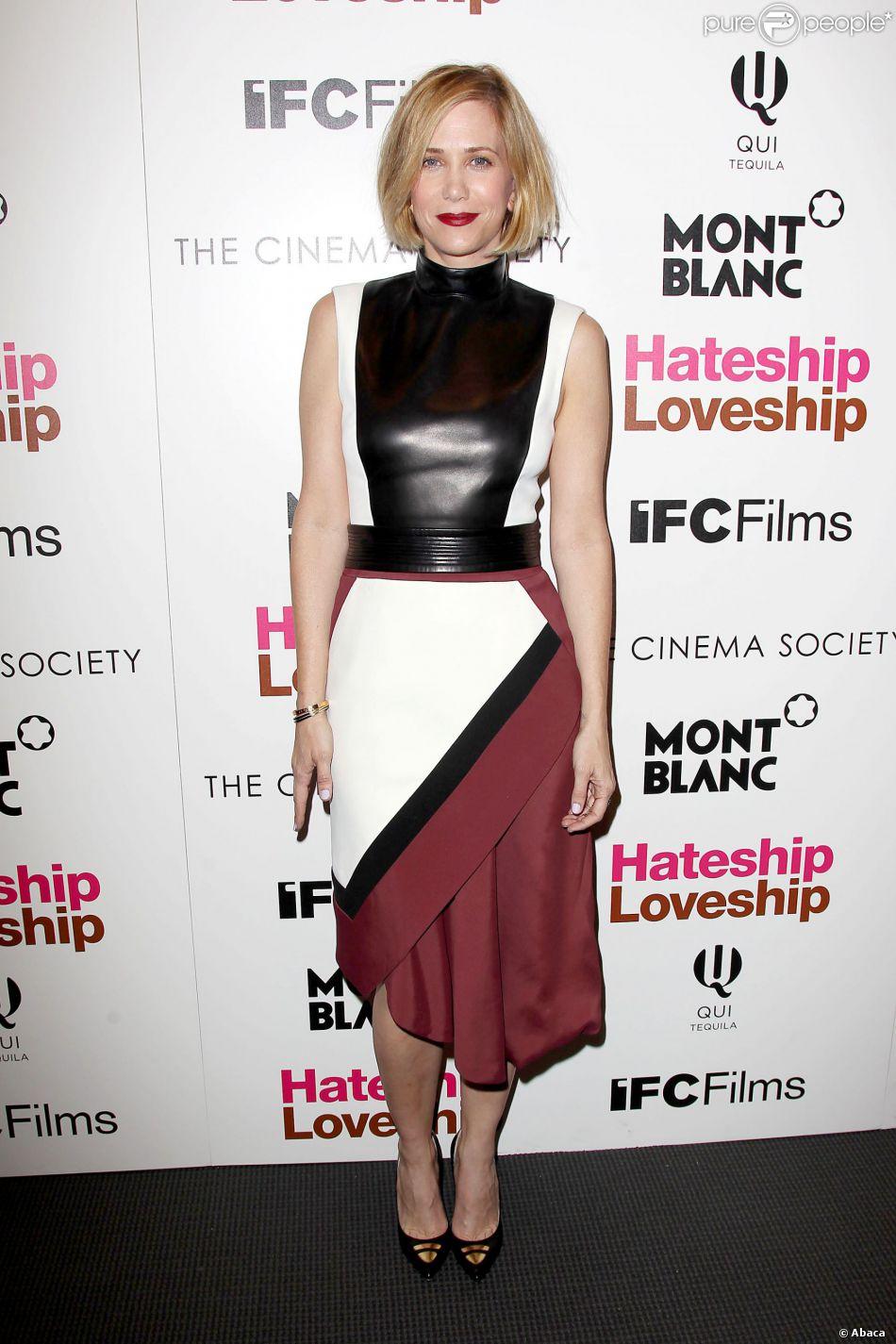 Kristen Wiig blonde lors de la première de Hateship Loveship à New York le 8 avril 2014.