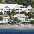 Exclusif - Karine Ferri en vacances à Saint Barthélemy logée à l'hôtel Taiwana, le 21 janvier 2014