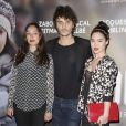 """Alka Balbir, Tom Hygreck et Audrey Giacomini lors de l'avant-première du film """"24 jours"""" au cinéma Gaumont Marignan à Paris, le 10 avril 2014"""