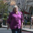 Exclusif - Debbie Rowe va déjeuner avec son fiancé Marc Schaffel à Calabasas le 4 avril 2014.
