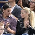 Zlatan Ibrahimovic avec sa femme Helena Seger et ses fils Vincent et Maximilian assistent a la finale de l'Open Masters 1000 de Tennis Paris Bercy le 3 novembre 2013.  Soccer player Zlatan Ibrahimovic with his wife Helena Seger and his sons Vincent and Maximilian attend the final of the Open 1000 Tennis Masters Paris Bercy in Paris on November 3, 2013.03/11/2013 - Paris