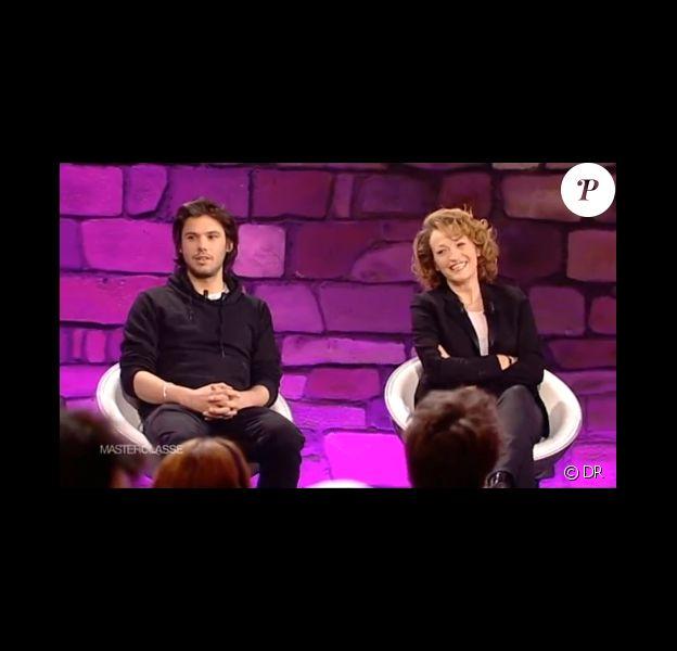 Orelsan et Annick Cojean dans la Master classe sur France 4, le lundi 21 avril 2014