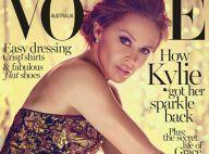 Kylie Minogue : Sublime et très, très gold... La star s'affiche en couv' de Vogue