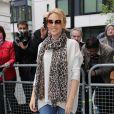"""Kylie Minogue et le jury de l'émission """"The Voice"""" à Londres. Le 4 avril 2014."""