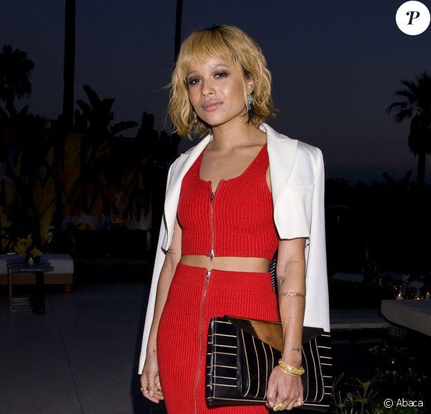 Zoë Kravitz assiste à un dîner organisé par Jimmy Choo et Sandra Choi, directrice artistique de la marque. Beverly Hills, le 15 avril 2014.
