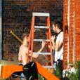 EXCLUSIVE. Matt Smith et Ryan Gosling sur le tournage du film How To Catch A Monster (désormais intitulé Lost River), en mai 2013.