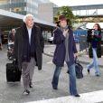Arrivée de Dominique Strauss-Kahn et Anne Sinclair à Paris, le 4 janvier 2012.