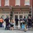 """""""Devant la maison où Dominique Strauss-Kahn était assigné à résidence, à New York le 3 septembre 2011."""""""