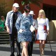 Kris Jenner se rend à l'église pour Pâques avec sa mère Mary Jo Shannon et Bruce Jenner. Agoura Hills, le 20 avril 2014.
