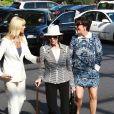 Kris Jenner se rend à l'église pour Pâques avec sa mère Mary Jo Shannon. Agoura Hills, le 20 avril 2014.