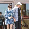 Kris Jenner quitte une église à l'issue de la messe de Pâques avec son (ex ?) mari Bruce Jenner. Agoura Hills, le 20 avril 2014.