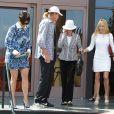 Kris Jenner quitte une église à l'issue de la messe de Pâques avec sa mère Mary Jo Shannon et Bruce Jenner. Agoura Hills, le 20 avril 2014.