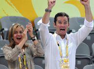 PHOTOS : La princesse Cristina d'Espagne et son champion de mari, hystériques dans les gradins de Pékin !
