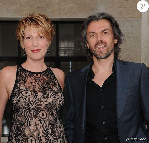 Exclusif - Natacha Polony et Aymeric Caron arrivent à la conférence de rentrée de France TV au Palais De Tokyo à Paris, le 27 août 2013.