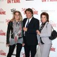 Bernard Tapie avec sa femme Dominique et sa fille Sophie - Avant-première de 'Salaud on t'aime' à l'UGC Normandie sur les Champs-Elysées à Paris le 31 mars 2014.