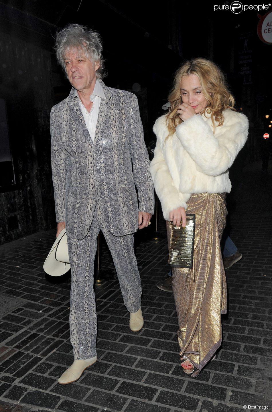 Bob Geldof et sa compagne lors d'une soirée à Londres, le 30 avril 2013.