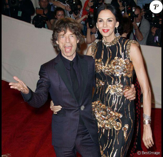 Mick Jagger et L'Wren Scott à New York, le 2 mai 2011.