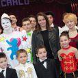 """Pauline Ducruet - SAS la princesse Stephanie de Monaco et sa fille Pauline Ducruet assistent à la présentation du 3eme festival international du cirque """"New Generation"""" à Monaco, le 31 janvier 2014."""