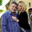 Photo exclusive :   Jean-Marie Bigard et sa douce Lola, posent lors du premier Trophée du Sud des Alpes, à Mougins. 4 mai 2014