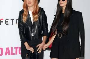Demi Moore sexy en minijupe : Look jeune et complicité avec sa fille Rumer