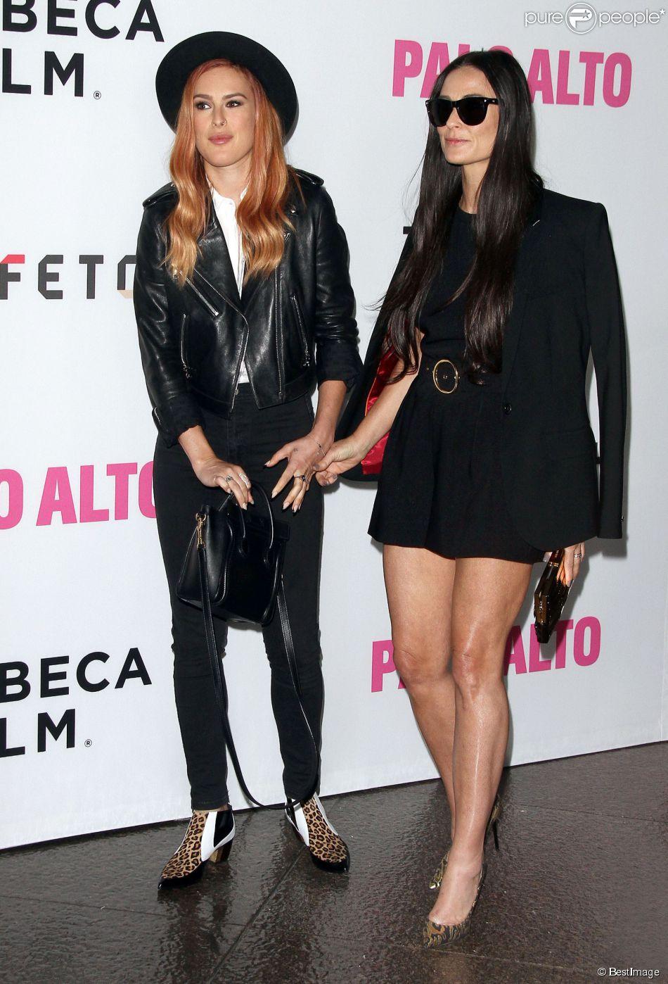 Demi Moore et sa fille Rumer à la première de Palo Alto à Los Angeles, le 5 mai 2014.
