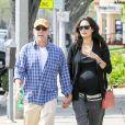 Bruce Willis ete Emma Heming à Santa Monica, Los Angeles, le 21 mars 2014.