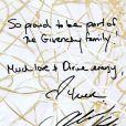 La petite carte d'Alicia Keys, égérie du nouveau parfum Givenchy, dévoilée sur Facebook le 7 mai 2014.