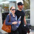 Emily Blunt et son mari John Krasinski à Los Angeles. Le 7 mai 2014.