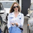 Emily Blunt sort de chez le coiffeur à West Hollywood, le 10 avril 2014.
