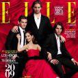 Eugenia Silva en couverture du  Elle  espagnol en 2009 avec Iker Casillas, Pau Gasol et Rafael Nadal, trois grands champions espagnols