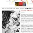 Eugenia Silva avec son bébé Alfons(it)o, né le 1er avril 2014, lors d'un shooting. Photo publiée sur son blog pour Hola! en mai.