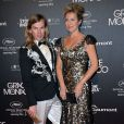 "Christophe Guillarmé et Natacha Amal (robe Christophe Guillarmé, pochette Carmen Steffens, bijoux Elsa Lee) - After-party du film ""Grace de Monaco"" lors de l'ouverture du 67e festival du film de Cannes au Studio 5 à Cannes le 14 mai 2014."