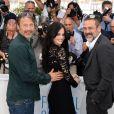 """Mads Mikkelsen, Eva Green, Jeffrey Dean Morgan - Photocall du film """"The Salvation"""" (hors compétition) lors du 67e Festival international du film de Cannes, le 17 mai 2014."""