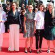"""Membres du jury : Leila Hatami, Carole Bouquet, Do-yeon Jeon Sofia Coppola et Jane Campion - Montée des marches du film """"Le Meraviglie"""" lors du 67e Festival du film de Cannes le 18 mai 2014"""