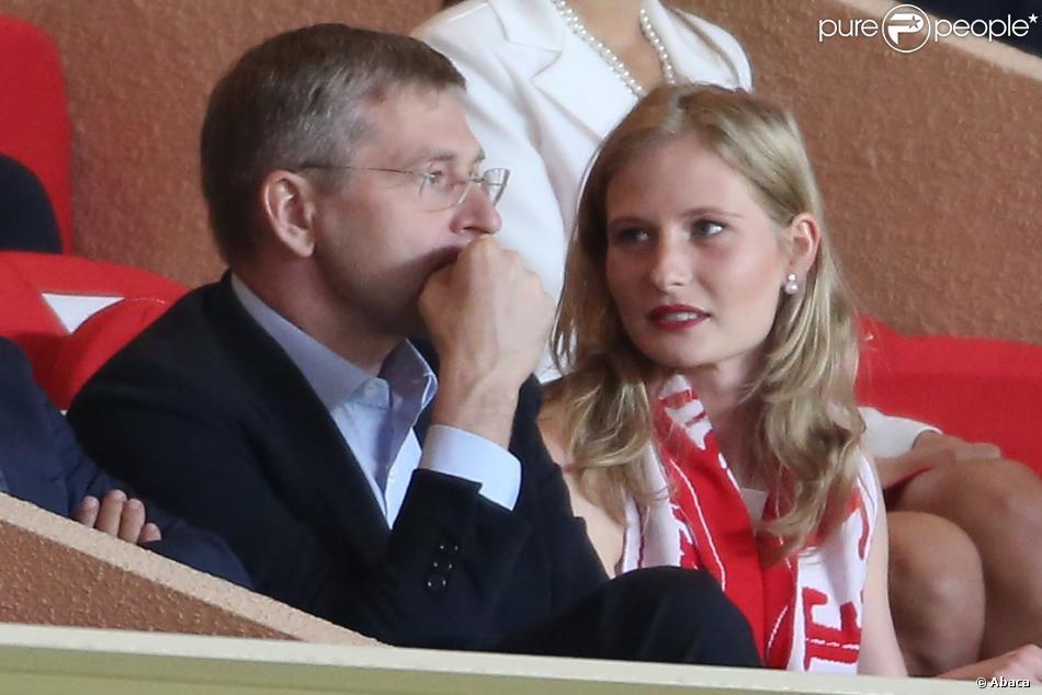 Dmitry Rybolovlev et sa fille Ekaterina à Monaco le 14 septembre 2012.