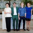 Xavier Dolan, Anne Dorval, Antoine Olivier Pilon, Suzanne Clément lors du photocall du film Mommy au Festival de Cannes le 22 mai 2014