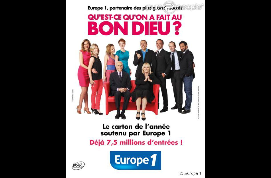 L'affiche de  Qu'est-ce qu'on a fait au Bon Dieu ?  revisitée par les animateurs d'Europe 1.