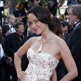 """Karine Lima à la montée des marches du film """"Sils Maria"""" lors du 67e Festival du film de Cannes le 23 mai 2014."""
