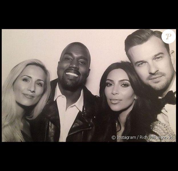 DawnCheré Wilkerson, Kanye West, Kim Kardashian et Rich Wilkerson lors du mariage de Kanye et Kim au Forte di Belvedere. Florence, le 24 mai 2014.
