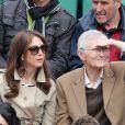 Elsa Zylberstein et son père Albert Zylberstein aux Internationaux de France de tennis de Roland Garros à Paris, le 27 mai 2014.