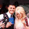 Wanda Nara et Mauro Icardi se marient à Buenos Aires, le 27 mai 2014.