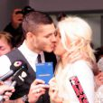 Wanda Nara et le footballeur Mauro Icardi se marient à Buenos Aires, le 27 mai 2014.